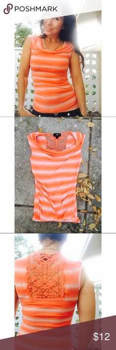Top with lace area back By Is Byer.  Xs Iz Byer Tops