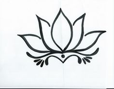 Image result for lotus flower drawing simple