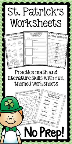 St. Patrick's Day Math and Literature Worksheets.