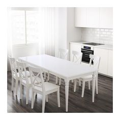 INGATORP Extendable table  - IKEA  Same story. Can seat four or six, not counting end people.