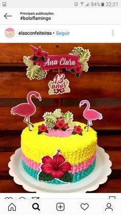 Hawaiian Luau Party, Hawaiian Birthday, Flamingo Birthday, Tropical Party, Luau Party Cakes, Luau Party Decorations, Flamenco Party, Hawaii Cake, 4th Of July Cake