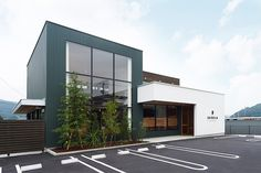 SESELA   ELD INTERIOR PRODUCTS イールドインテリアプロダクツ 岡山県岡山市北区横井上 Metal Buildings, Modern Buildings, Cafe Shop Design, House Design, Retail Facade, Container Shop, Modern Shop, Church Building, Steel Furniture