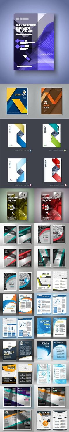 Business cover flyers brochure design