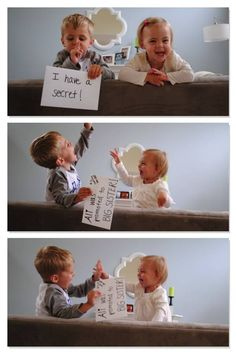 I'm not pregnant but this is too cute.oggi ricaricala,nn credo k t lascino su i doldi . Cute Kids, Cute Babies, Baby Kids, Baby Boy, Third Baby Announcements, Baby Number 3, Baby On The Way, Project Nursery, Baby Hacks