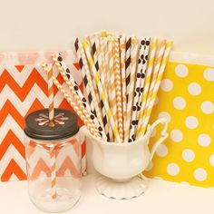 FALL PARTY Paper Straw Assortment