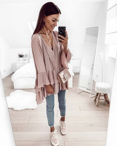✅✅✅ New Outfits, Spring Outfits, Casual Outfits, Duster Coat, Fall Winter, Denim, My Style, Instagram, Womens Fashion
