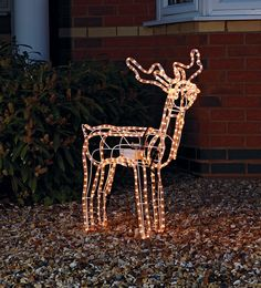 This pretty nodding reindeer rope light Christmas decoration makes the perfect focal point for your own winter wonderland this festive season - and it's available from My Christmas List, Christmas Hat, Xmas, Outside Christmas Decorations, Decorating With Christmas Lights, Argos, Easter Ideas, Winter Wonderland, Reindeer