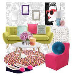 Splash of Color (Living Room Edition) Interior Decorating, Interior Design, Living Room Colors, Color Splash, House Design, Interiors, Polyvore, Home Decor, Nest Design