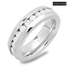 Stainless Steel CZ Eternity Band Your fervor for all things sparkly has you ready to rock this glamorous ring. Whether you