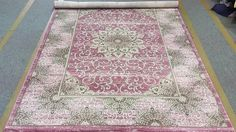 Amazon.com: Persian Classic Pink Dark Gray Silver Tabriz Design Flower 8'x10' Hand Carved Thick Pile High Density Carpet Area Rug Floor Mat Livingroom Bedroom 5050: Kitchen & Dining
