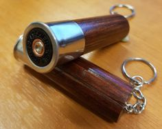 Fiocchi Shotgun Shell Cartridge Wooden Keyring / by CountryGiftsUK
