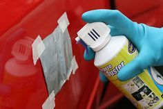 3 Ways to Remove a Dent in Car With a Hair Dryer - wikiHow > this is amazing and ironic the car is also red like mine hmmm