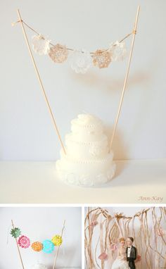 Topper cake buntings wedding cake decorations wedding images wedding pictures wedding ideas wedding decorations topper buntings