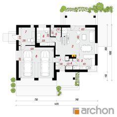 projekt Dom w jabłonkach 8 (G2) rzut parteru
