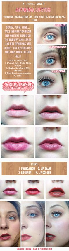 A full on guide to Autumnal lipstick - how to do a perfect fall lip in a dark shade.