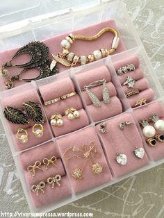 DIY porta-jóias (porta-bijuterias) utilizando caixa organizadora                                                                                                                                                                                 Mais