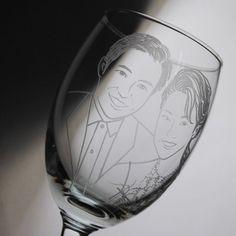 270cc【MSA結婚肖像杯】(寫實版)2人肖像紅酒杯 紀念酒杯雕刻結婚對杯