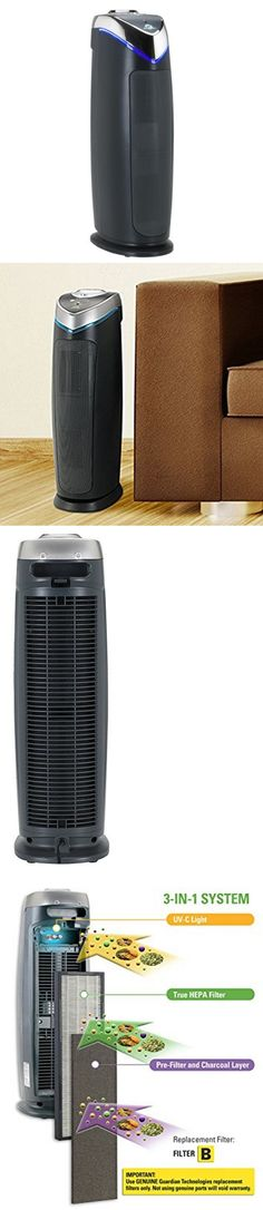 Air Purifiers 43510: Germguardian Ac4825 Air Purifier - True Hepa Filter, Uv-C Sanitizer -> BUY IT NOW ONLY: $64.95 on eBay!
