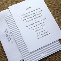 tuxedo typography wedding invitation  designcorral.com Repin and Like! #weddinginvitations #wedding #wedding_invitations