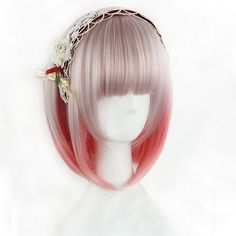 Harajuku Japanese Light Pink Wig (130 BRL) ❤ liked on Polyvore featuring beauty products, haircare, hair styling tools, hair and wig