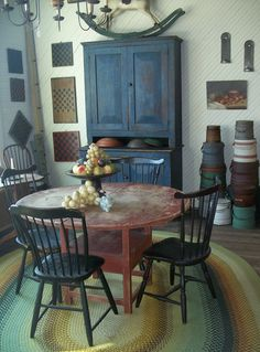 19th century Chair table with Windsor Chairs