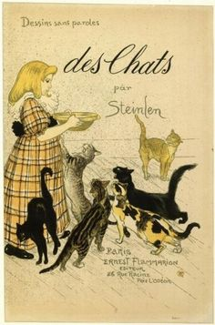Chats et Fillette (1898) (C 215) (Collection of the Bibliotheque Nationale de France)