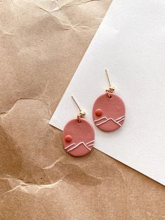 Cute Polymer Clay, Polymer Clay Creations, Polymer Clay Crafts, Polymer Clay Jewelry, Metal Clay Jewelry, Handmade Polymer Clay, Diy Clay Earrings, Simple Earrings, Jewelry Crafts