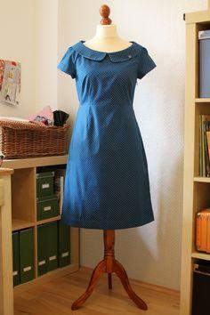 The blue PolkaDott-Dress