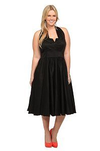 Queen Of Heartz - Black Halter Dress