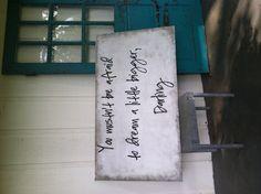 Headboard Sign. simple & stunning.  Pamela Joyce Designs