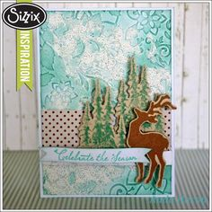 Sizzix Die Cutting Tutorial | Celebrate the Season Card by Aida Haron Holiday Joy