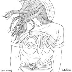 Tumblr Coloring Pages, Coloring Book Art, Free Coloring Pages, Printable Coloring Pages, Coloring Sheets, Outline Art, Coloring Pages Inspirational, Art Drawings Sketches, Character Illustration