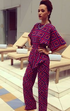Peplum Top and Pants Ideas For African Women & Men - Reny styles African Inspired Fashion, African Print Fashion, Africa Fashion, Ethnic Fashion, Fashion Prints, African Prints, African Attire, African Wear, African Women