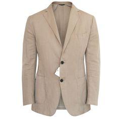 SID MASHBURN $1,150 casual cotton linen wheat tan khaki blazer jacket 38/48…