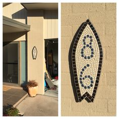 Our house number a mosaic surfboard of course