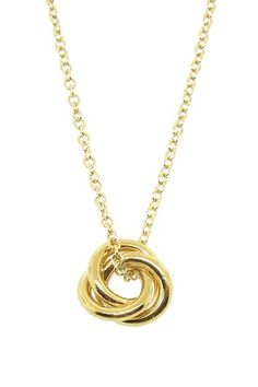 Forget Me Knot Necklace by LEILA on @HauteLook