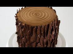 Savory magic cake with roasted peppers and tandoori - Clean Eating Snacks Chocolate Tree, Chocolate Almond Bark, How To Make Chocolate, Melting Chocolate, Chocolate Recipes, Lumberjack Cake, Wood Cake, Tree Cakes, Cake Youtube