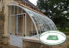 Photogallery of greenhouses manufactured by Serres d'Antan Home Greenhouse, Greenhouse Gardening, Tropical Greenhouses, Victorian Greenhouses, Conservatory Garden, Fish House, Cold Frame, Garden Fountains, Garden Structures