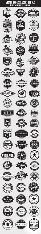 Heel veel 'vintage' logo's. Het komt steeds vaker terug tegenwoordig. Ik hou van de elementen die ze toevoegen aan de woorden. Bergen, cirkels. Erg stijlvol: