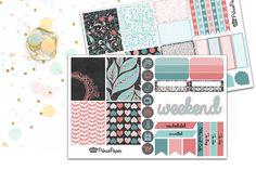 Planner Sticker Weekly Kit Midnight Garden for your Erin Condren Life Planner…