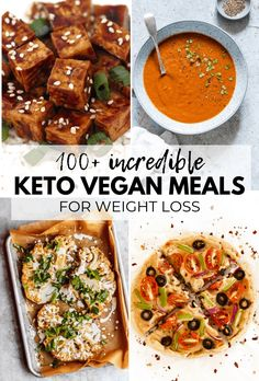 Over 100 AMAZING Keto Vegan Recipes for Weight Loss that are totally delicious! They& help you trim down and achieve your goals in an enjoyable way. All recipes are gluten-free, dairy-free and sugar-free, too! Vegan Keto Diet, Vegan Keto Recipes, Vegetarian Keto, Low Carb Recipes, Whole Food Recipes, Diet Recipes, Healthy Recipes, Ketogenic Diet, Vegan Recipes For Dinner