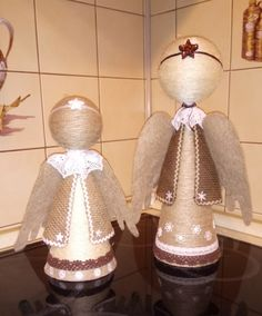 Christmas Crafts To Make, Christmas Angels, Christmas Snowman, Christmas Time, Christmas Decorations, Xmas, Christmas Ornaments, Handmade Angels, Angel Crafts