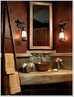 Traditional Rustic Lake House Bathroom Design, Pictures, Remodel, Decor and Ideas - page 2 Western Decor, Rustic Decor, Rustic Design, Rustic Style, Rustic Feel, Rustic Modern, Rustic Chic, Western Chic, Rustic Colors