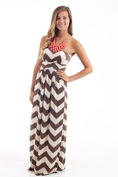 The Mint Julep Boutique :: New Arrivals :: Jersey Shore Maxi Dress, mocha
