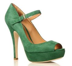 Oh, Kurt Geiger, stop it. Just stop it with the  gorgeous green suede, and the lovely, slender heel, and the peep toe and the FABULOUS.  Don't you know I had to pay road tax this month, and just ca...