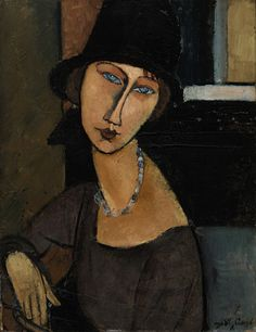 "Amedeo Modigliani: ""Jeanne Hébuterne (au Chapeau),"" 1919."
