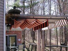 Pergola retractable cover with protective cover above Outdoor Rooms, Outdoor Gardens, Outdoor Living, Patio Roof, Back Patio, Pergola Plans, Pergola Kits, Diy Pergola, Garden Structures