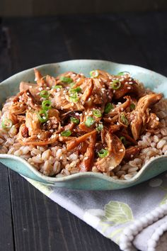 "Slow Cooker Honey Sesame Chicken from Tessa of Handle the Heat.  This is getting bumped to the top of my ""to try"" list!"