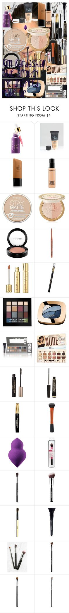Kim Kardashian Blue Smokey Eye Inspired Make Up by oroartye-1 on Polyvore featuring beauty, LORAC, Bobbi Brown Cosmetics, Too Faced Cosmetics, Revlon, Sigma, MAC Cosmetics, NYX, Maybelline and Sephora Collection