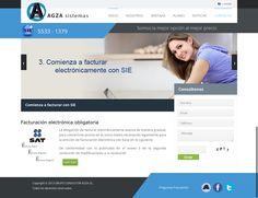 Sito WEB de asesoría , atención a clientes y sistema de Facturación electrónica ligada al SAT para timbrar la factura. Modulo para uso de clientes y modulo Administrativo del sitio.